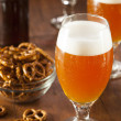 Stock Photo: Refreshing BelgiAmber Ale Beer