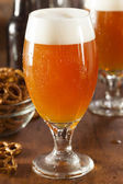 Refreshing Belgian Amber Ale Beer — Stock Photo