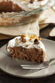 Homemade Chocolate Cream Pie — Stock Photo