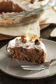 Homemade Chocolate Cream Pie — Stock Photo