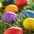 Colorful Dyed Eggs for Easter — Stok Fotoğraf #42013961