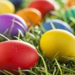 Colorful Dyed Eggs for Easter — Stok Fotoğraf #42013985