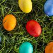 Colorful Dyed Eggs for Easter — Stok Fotoğraf #42014021