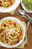Light Homemade Pesto Pasta — Stock Photo