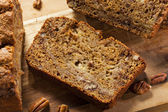 Homemade Banana Nut Bread — Stock Photo