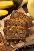 Homemade Banana Nut Bread — Stock Photo