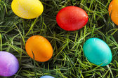 Colorful Dyed Eggs for Easter — Foto Stock