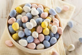 Festive Chocolate Easter Candy Eggs — Foto Stock