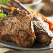 Homemade Cooked Lamb Chops — Stock Photo