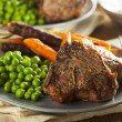 Homemade Cooked Lamb Chops — Stock Photo #42151253