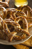 Homemade Soft Pretzels with Salt — Stockfoto