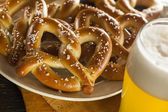 Homemade Soft Pretzels with Salt — Stock Photo