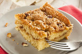 Homemade Coffee Cake with Cinnamon — Stock Photo