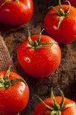Orgánicos rojos tomates maduros — Foto de Stock