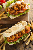 Homemade Shrimp Po Boy Sandwich — Stock Photo
