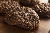 Double Chocolate Chip Oatmeal Cookies — Zdjęcie stockowe