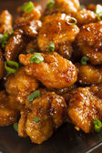 Asian Oranage Chicken with Green Onions — Photo