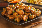 Asian Oranage Chicken with Green Onions — Stock Photo