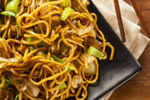 Asian Chow Mein Noodles — 图库照片