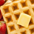 Homemade Belgian Waffles with Fruit — Stock Photo #43324311