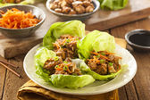 Healthy Asian Chicken Lettuce Wrap — Stock Photo