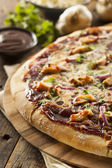 Homemade Barbecue Chicken Pizza — Stock Photo