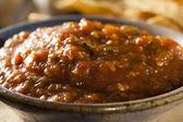 Organic Red Spicy Salsa — Stock Photo