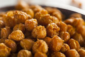 Healthy Roasted Seasoned Chick Peas — Stock Photo