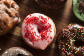 Assorted Homemade Gourmet Donuts — Stock Photo