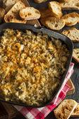 Homemade Cheesy Garlic Artichoke Spread — Stock Photo