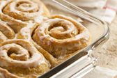 Homemade Cinnamon Roll Sticky Buns — Stock Photo