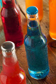 Assorted Organic Blue Craft Sodas — Stock Photo