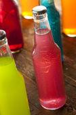 Assorted Organic Craft Peach Soda — Stock Photo