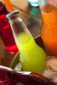 Assorted Organic Craft Sodas — Stock Photo