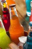 Assorted Organic Craft Orange Soda — Stock Photo