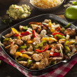 Homemade Chicken Fajitas with Vegetables — Stock Photo #46031443