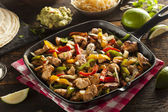Homemade Chicken Fajitas with Vegetables — Stock Photo