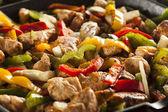 Fajitas au poulet faits maison avec légumes — Photo