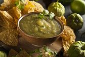 Caseira salsa verde com coentro — Fotografia Stock