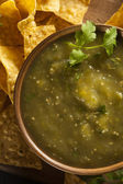Homemade Salsa Verde with Cilantro — Stockfoto