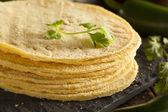 Stack of Homemade Corn Tortillas — Stock Photo