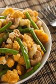 Spicy Thai Cauliflower and Beans — Stockfoto
