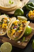 Tacos de pescado baja caseros — Foto de Stock