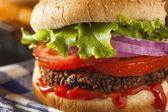 Hamburger domowy quinoa wegetariańska zdrowy — Zdjęcie stockowe
