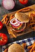 Homemade Healthy Vegetarian Quinoa Burger — Stock Photo
