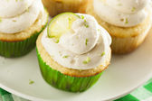 Homemade Margarita Cupcakes with Frosting — Stock Photo