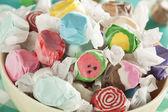 Assorted Sweet Saltwater Taffy — Stock Photo