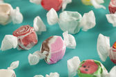 Assorted Sweet Saltwater Taffy — Stock Photo