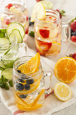 Healthy Spa Water with Fruit — Stock Photo