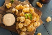 Beer Battered Wisconsin Cheese Curds — Stock Photo